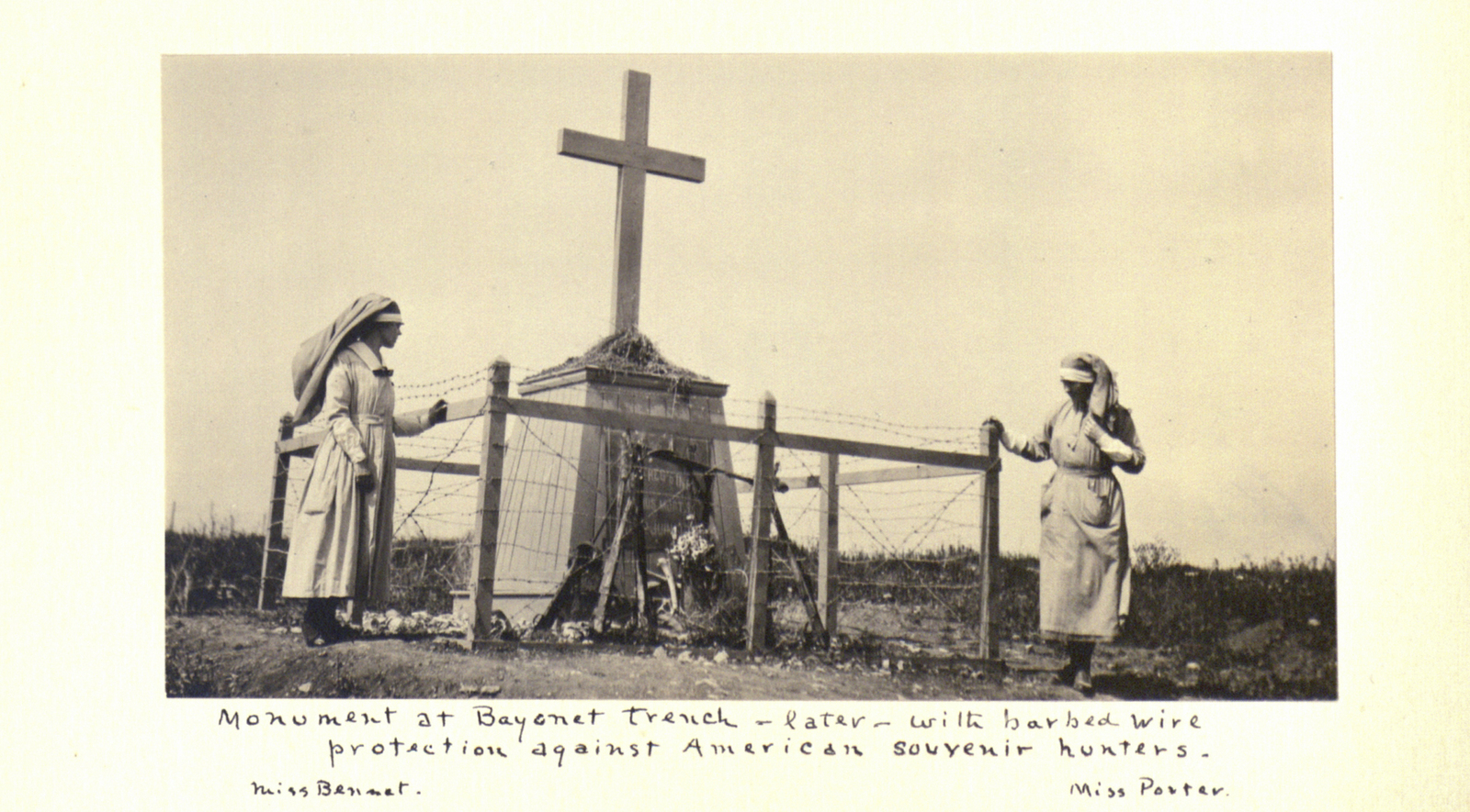 Monument at Bayonet Trench