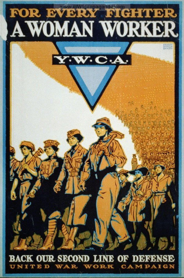 YMCA War Work Campaign poster
