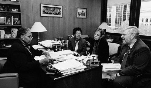 Evelyn Jones Rich '54 with Assemblywoman Barbara Clark