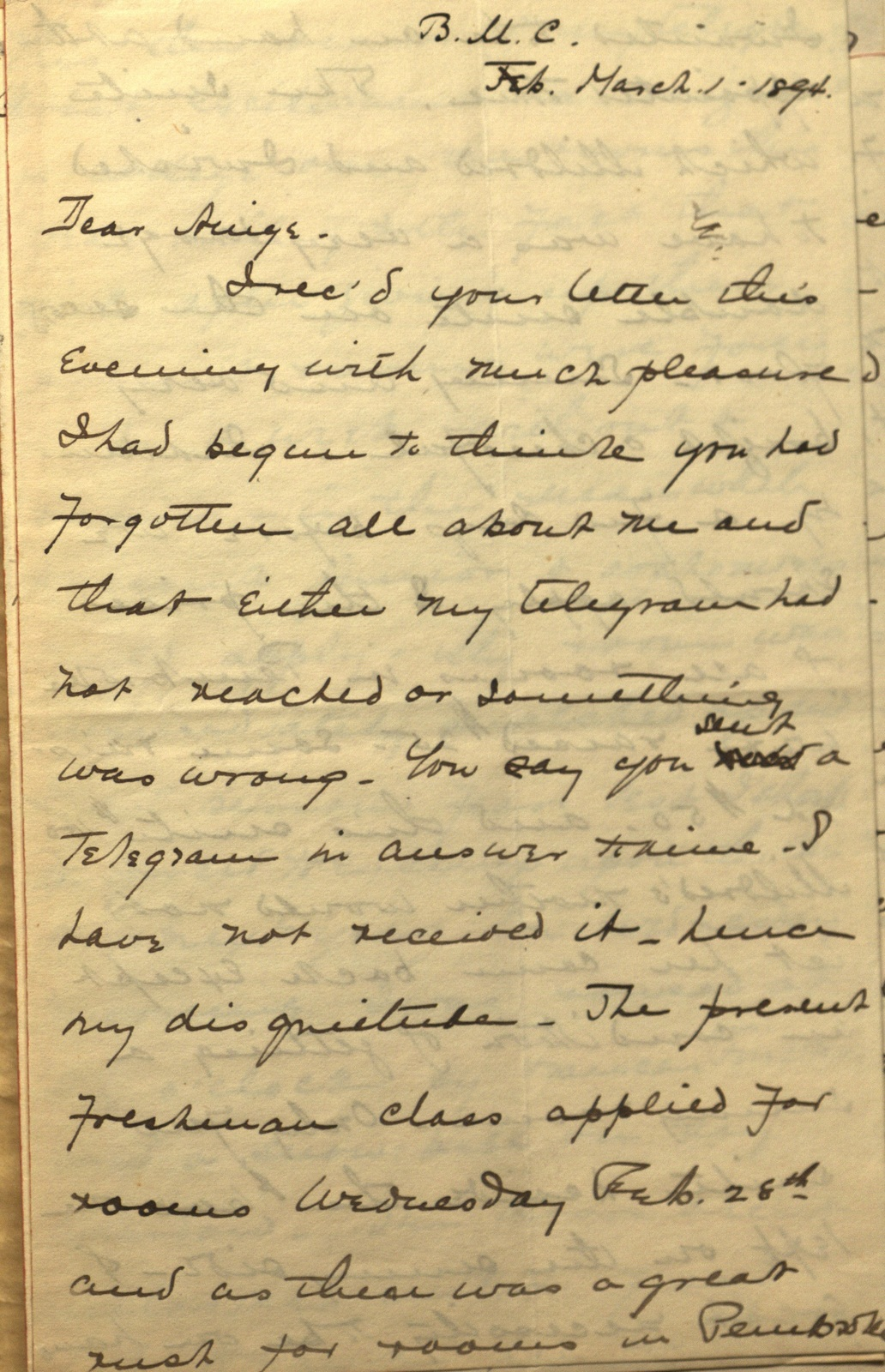 Letter from Frances Arnold to Midge