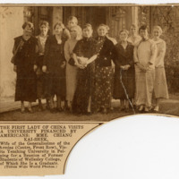 Madame Chiang Kai-shek Visit to Yenching, Newspaper Clipping