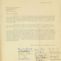 Letter to Margaret Bailey Speer, 18 January 1947
