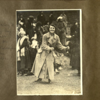 Lois Kellogg Jessup, Class of 1920, as song leader