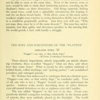 The Why and Wherefore of the 'Flapper'