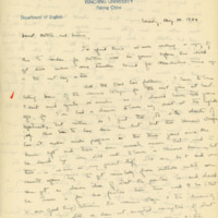 Letter to Robert Elliott Speer and Emma Bailey Speer, 20 May 1934