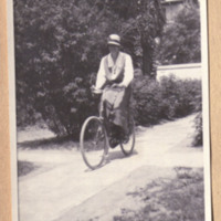 Margaret Bailey Speer Riding Bicycle
